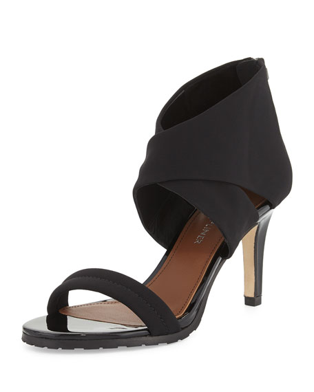 Donald J Pliner Tilly Stretch Mid-Heel Sandal, Black