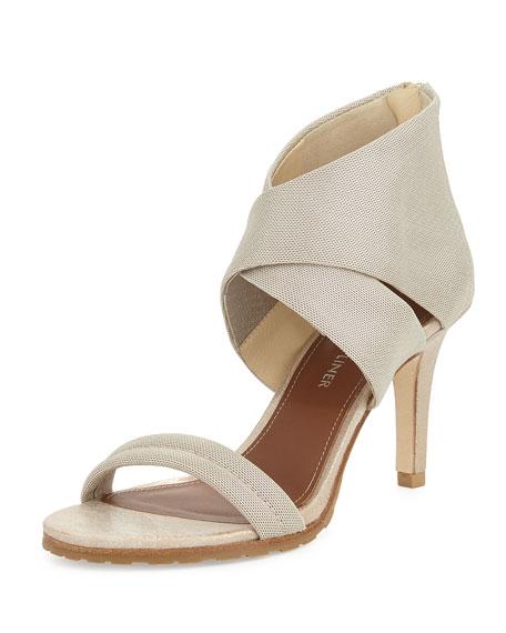 Donald J Pliner Tilly Stretch Mid-Heel Sandal, Platino