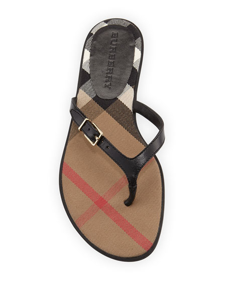 Meadow Leather Thong Sandal, Black