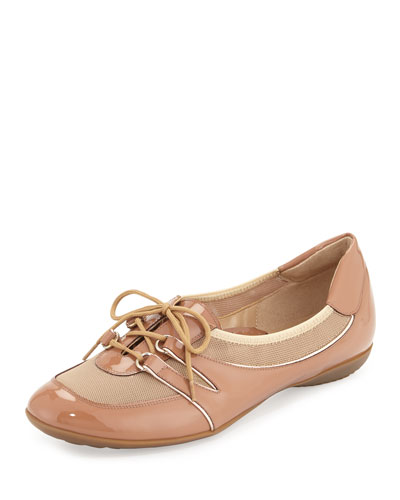 Bonnie Stretch Patent Sneaker, Terra Rust