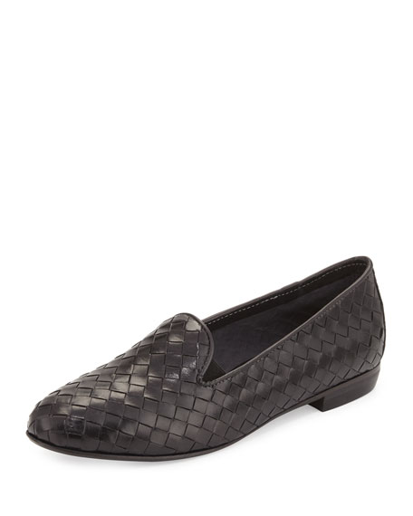 Sesto Meucci Nader Woven Leather Loafer, Black