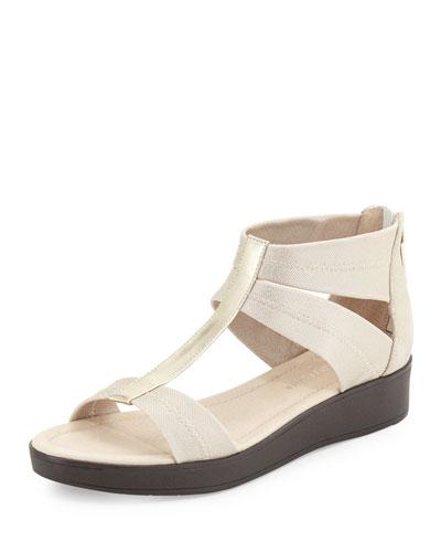 Voni Strappy Comfort Casual Sandal, Platino