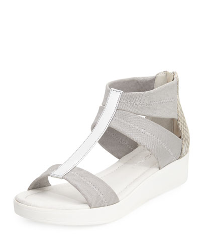 Voni Strappy Comfort Casual Sandal, Silver