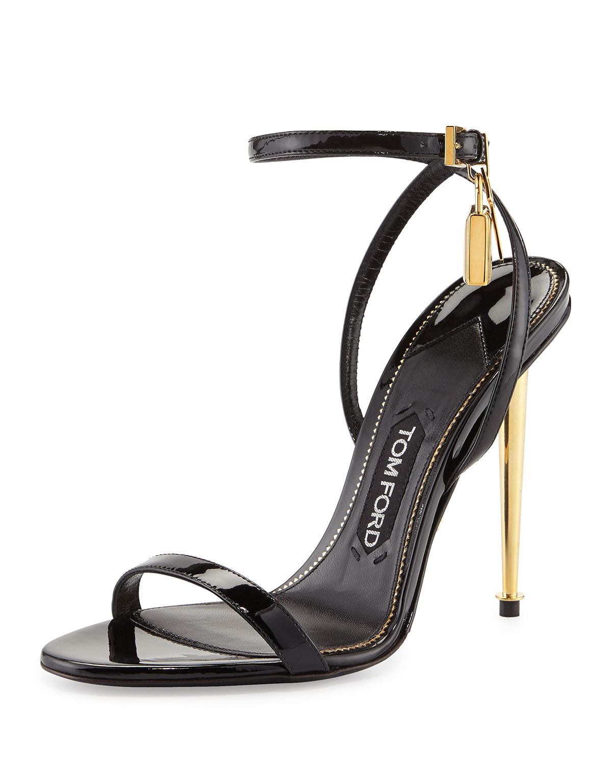 d865a60ab0a TOM FORD Lock Ankle-Wrap Patent 110mm Sandals