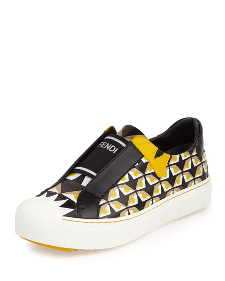 Bug Eyes Slip-On Sneaker, Black/Yellow