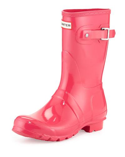 Original Short Gloss Rain Boot, Bright Cerise