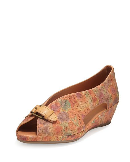 Gentle Souls Lanner Cutout Cork Flat, Natural Floral