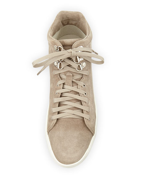 Kent Suede High-Top Sneaker, Warm Gray