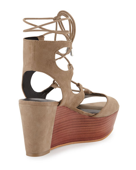 Cady Lace-Up Platform Wedge Sandal