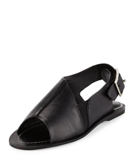 Charles David Arianna Leather Slingback Sandal, Black