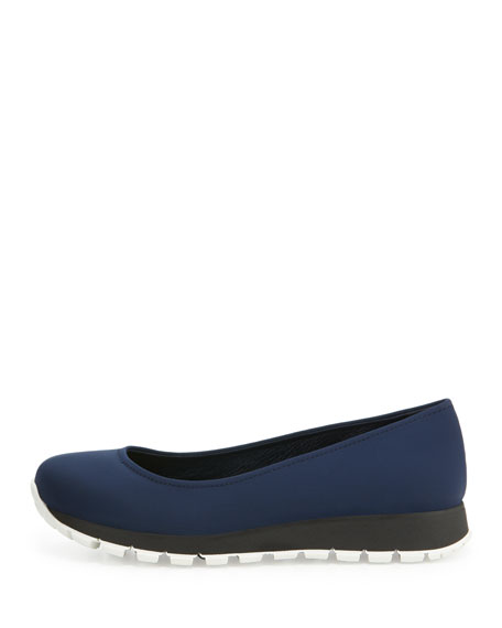 Sport Bottom Ballerina Flat, Baltico/Nero