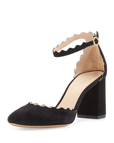 Lauren Scalloped d'Orsay Pump, Black