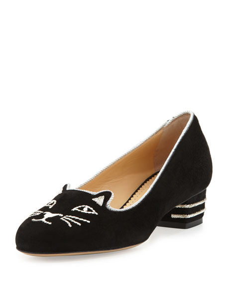 Kitty Suede 35mm Pump, Black