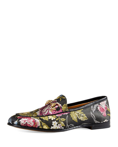 New Jordaan Floral-Jacquard Loafer, Multi