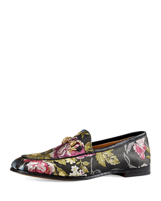 ead47dc5864 Gucci New Jordaan Floral-Jacquard Loafer
