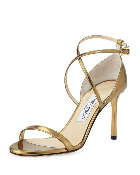 Jimmy Choo Hesper Strappy 85mm Sandal, Light Honey