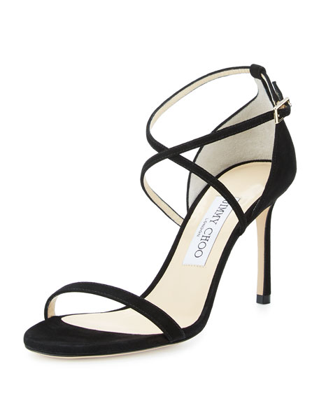 Image 1 of 4: Hesper Strappy 85mm Sandal, Black