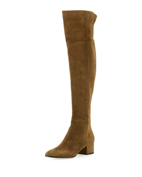Gianvito Rossi Rolling Mid suede over-the-knee boots 8IKRq
