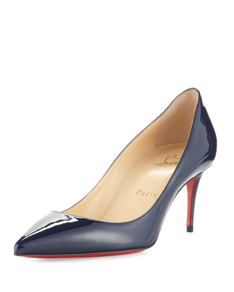 Christian Louboutin Decollete Patent 70mm Red Sole Pump,