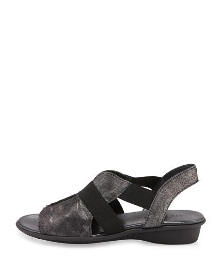 Estelle Strappy Stretch Sandals, Black