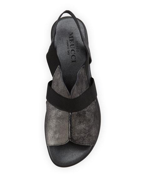 Estelle Strappy Stretch Sandal, Black