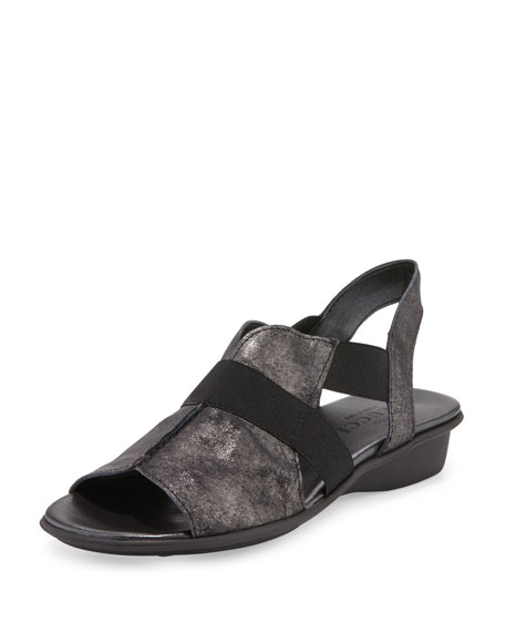 Sesto Meucci Estelle Strappy Stretch Sandal, Black