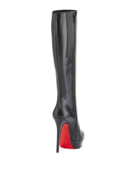 f62e03e0236 Bianca Botta 140mm Red Sole Knee Boot Black