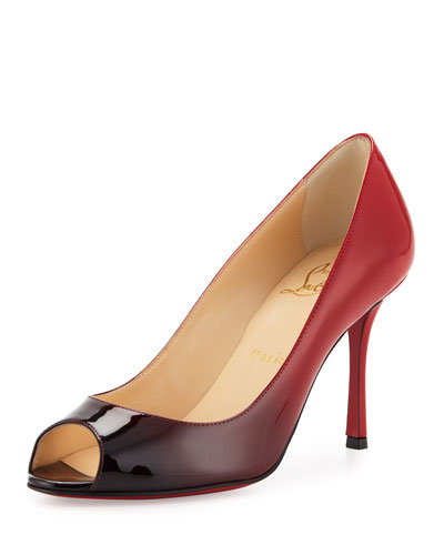 christian louboutin guni mesh spike 55mm red sole pump