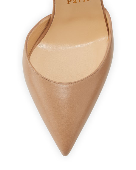 Uptown d'Orsay 100mm Red Sole Pump, Nude