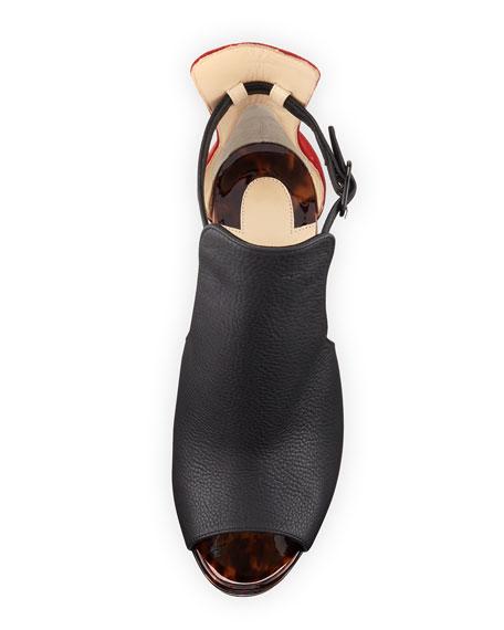 christian louboutin mens - Christian Louboutin Barabara Peep-Toe 120mm Red Sole Bootie, Testa ...