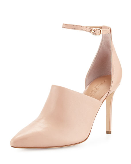 Halston Heritage Chloe Leather d'Orsay Pump, Quartz Pink