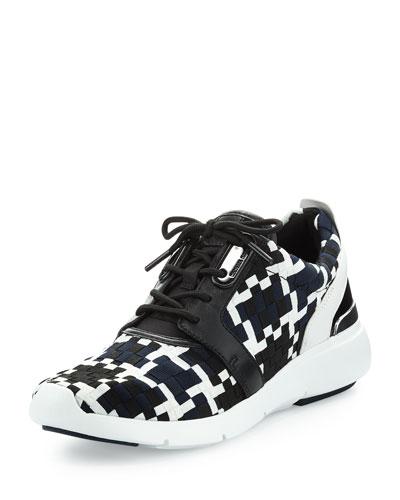 Amanda Woven Trainer Sneaker, Navy/Black
