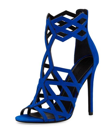 Kendall + Kylie Elena Strappy Cutout Sandal, Medium Blue