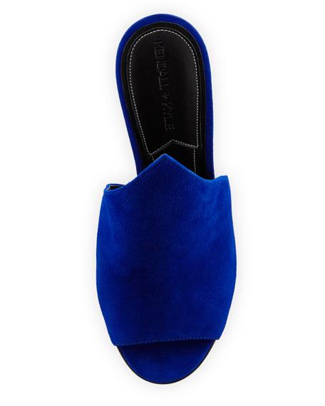 Essie Peaked Suede Mule Pump, Medium Blue