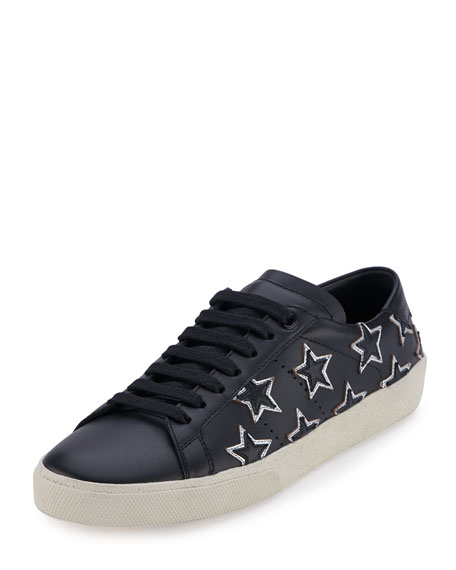 Star Court Classic Low-Top Sneaker, Black/Silver (Nero/Argento)