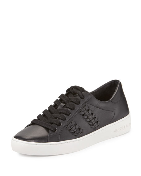 Stevie Woven Leather Sneaker, Black