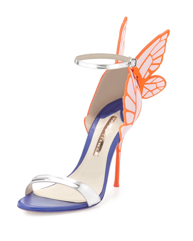 b61bfa3896dc Sophia Webster Chiara Butterfly Wing Ankle-Wrap Sandal