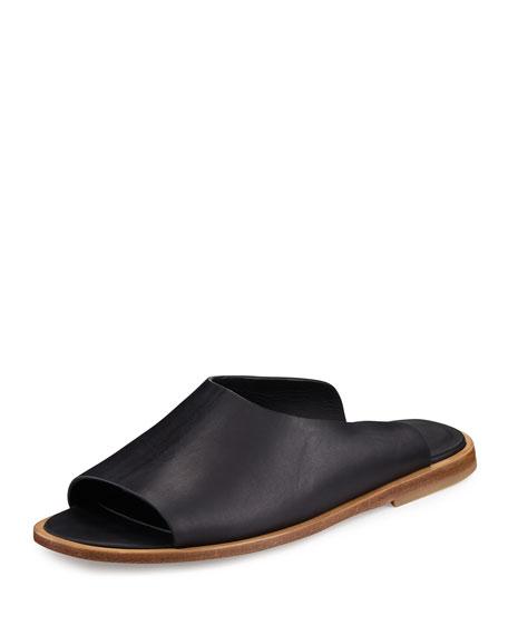 Lynnis Leather Slide Sandal, Black