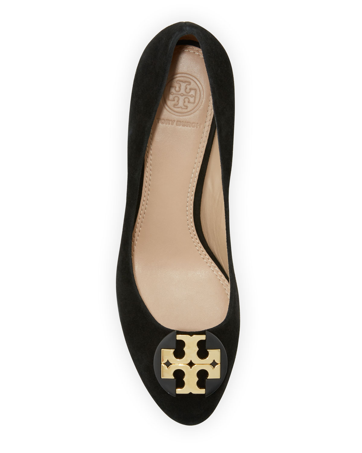 1b59d139e0d325 Tory Burch Luna Suede 65mm Wedge Pump
