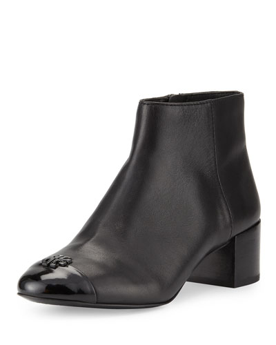 Jolie Leather 45mm Bootie, Black