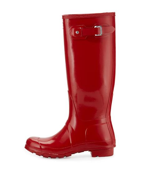 Original Tall Gloss Rain Boot, Red