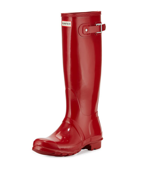 Hunter Boot Original Tall Gloss Rain Boot, Red