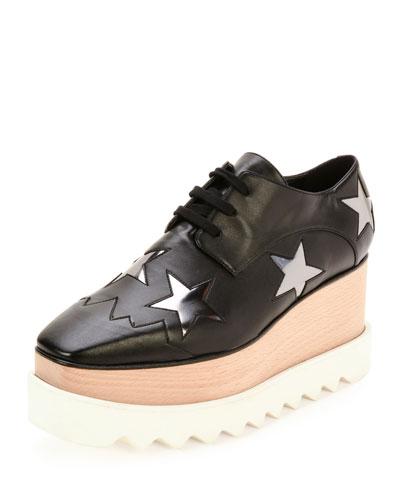 Elyse Star Platform Loafer, Black/Zync