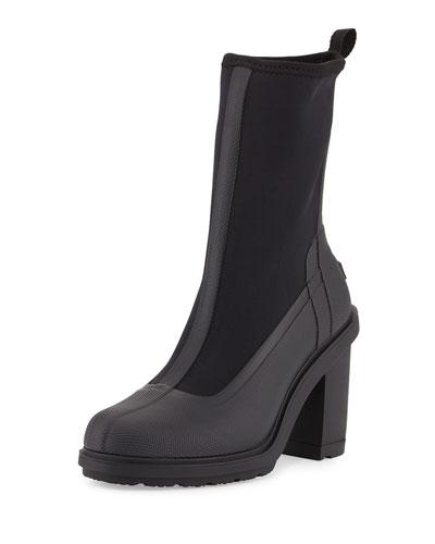 Original High-Heel Sock Boot, Black