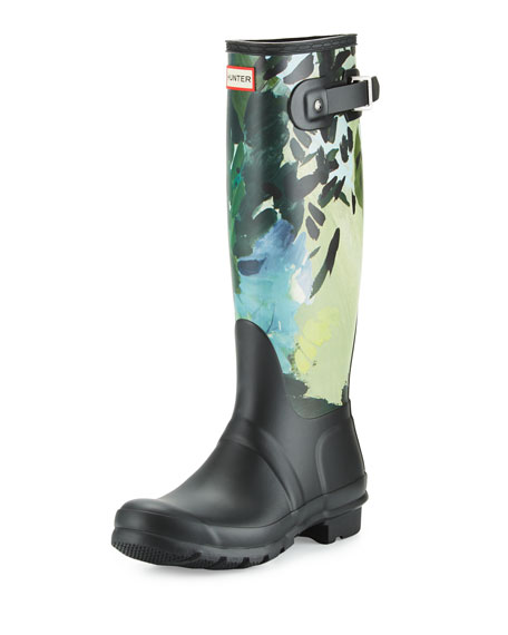 Hunter Tall Print Rain Boot Upaecmkfm