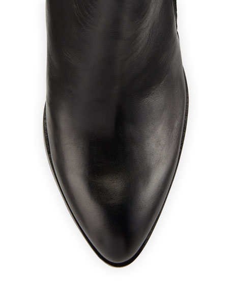 Edyn Pointed-Toe Leather Pump, Black