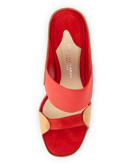 Sculpted High-Heel Mule, Flame Red
