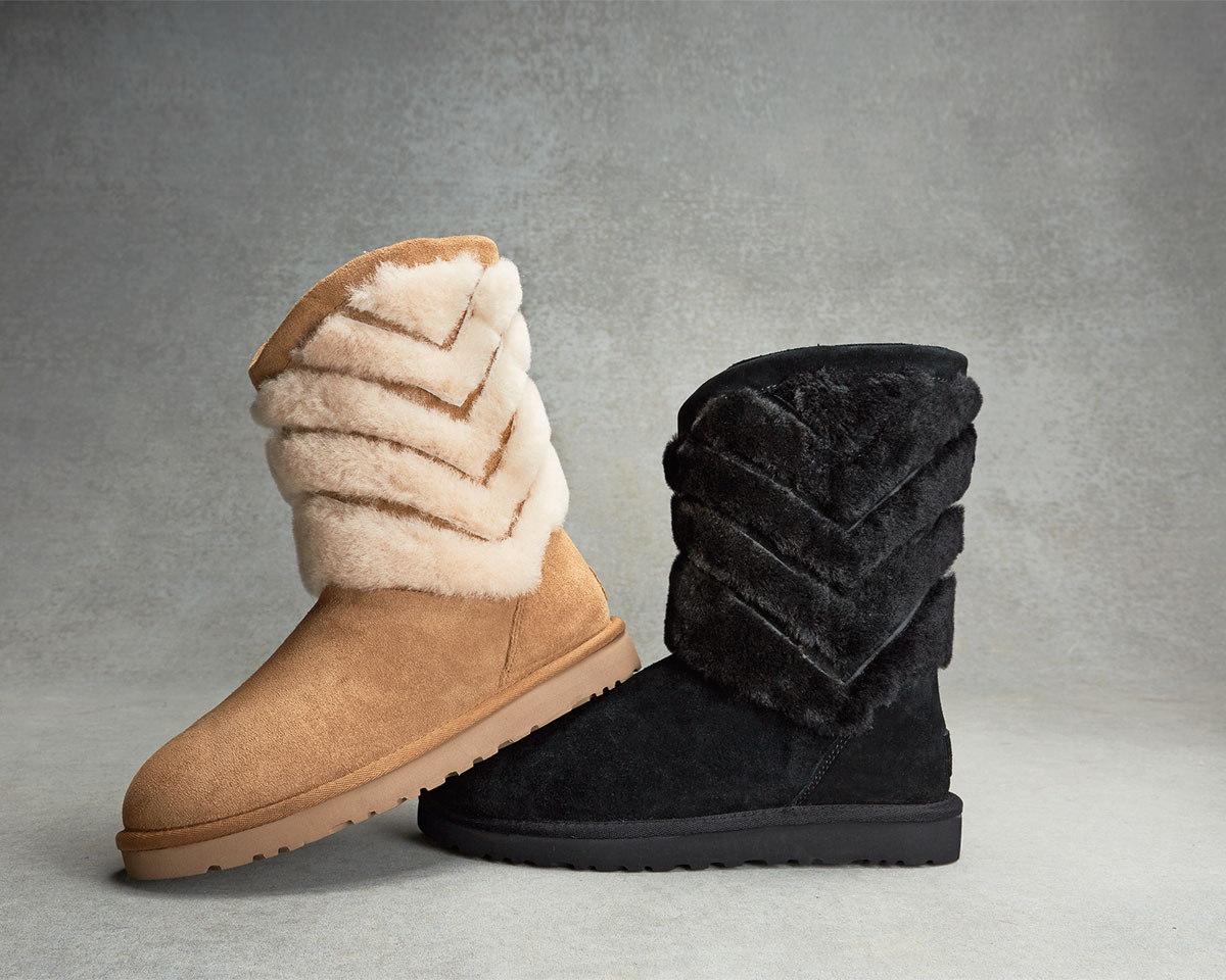 7f3f2b3f6b2 Tania Chevron-Shearling Fur Boot
