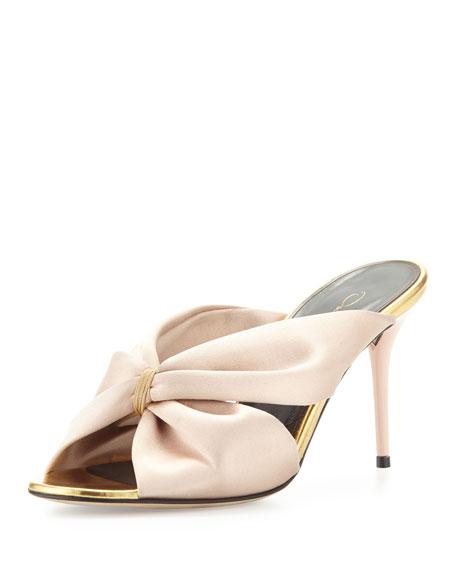 Oscar de la Renta Satin Stiletto Sandals t7wq6v