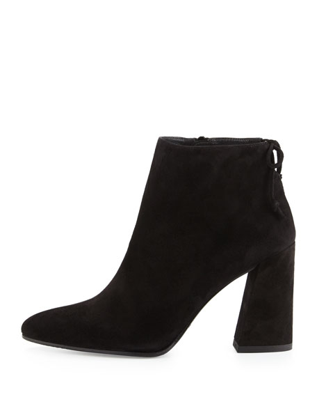 Grandiose Suede Pointed-Toe Bootie, Black